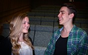 Felicia Lytz och Carl Bjrkman tyckte att workshopen scennrvaro var mycket givande. Dessutom hade de vldigt roligt. FOTO: ANNA SOURANDER 