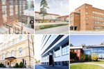 Campus Allegro i Jakobstad, Campus Vasa, Campusgården (Linja Arkkitehdit Oy), Campus Vasa, Wolffskavägen, Campus Åbo och Campus Raseborg.
