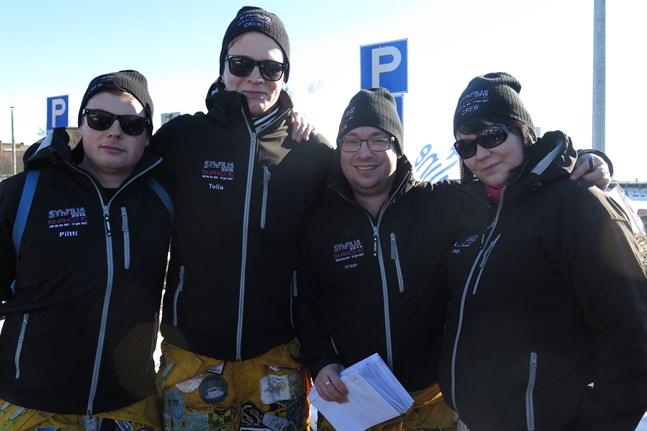 Syhfilis r.f:s Dennis Högberg, Joakim Gistö, Kristoffer Skrifvars, Nadja Berglund.