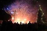 Jakobstad välkomnade det nya året 2017 med ett magnifikt fyrverkeri.