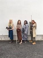 Vasa övningsskola, IB-linjen. Game of Thrones-karaktärer Katariina Saarikoski, Aleksandra Saarikoski, Meri Matila och Fanny Laurén.
