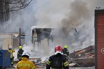 Redan innan brandkåren var på plats strax efter klockan 5.30 på lördagsmorgonen hade det brunnit i flera timmar under golvet i den gamla skolan i Korsnäståget. Byggnaden totalförstördes.