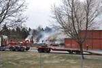 Orsaken till branden är inte fastslagen men det finns starka misstankar om att den är anlagd.