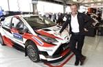 Toyotas stallchef Tommi Mäkinen är en lagledare.
